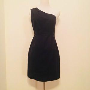 J Crew Navy Blue One-Shoulder Dress - Size 2
